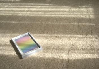 ゆらめく光、虹の上に.JPG